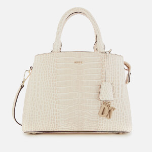 DKNY Women's Paige Croco Medium Satchel - Sand