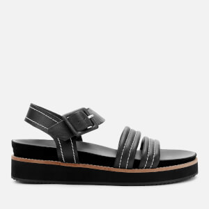 Whistles Women's Contrast Stitch Footbed Sandals - Black
