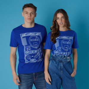 Sega Genesis Blueprints Unisex T-Shirt - Royal Blue