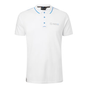 Men's White Buttoned Polo Shirt