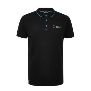 Men's Black Buttoned Polo Shirt