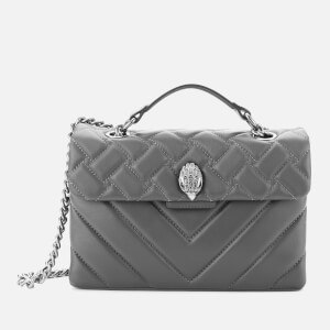 Kurt Geiger London Women's Leather Kensington X Bag - Grey