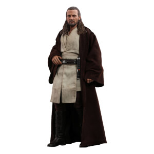 Figurine Articulée Qui-Gon Jinn (à l'échelle 1/6) Star Wars Episode I Movie Masterpiece 32cm - Hot Toys