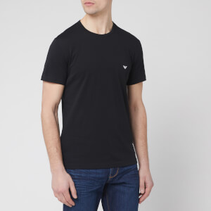 Emporio Armani Men's 2 Pack T-Shirts - Black/White