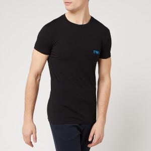 Emporio Armani Men's 2 Pack Crew Neck T-Shirt - Black