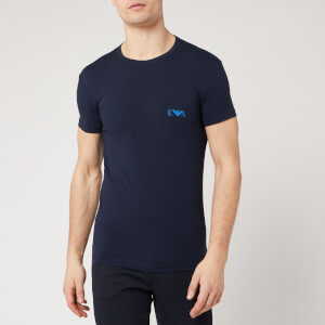 Emporio Armani Men's 2 Pack Crew Neck T-Shirt - Marine/Overseas