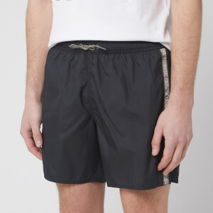 Emporio Armani Men's Logo Tape Boxer Swim Short - Nero