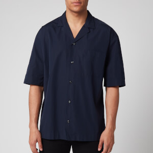 HUGO Men's Elanzo Short Sleeve Shirt - Dark Blue