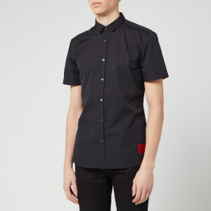 HUGO Men's Empson-W Short Sleeve Shirt - Black