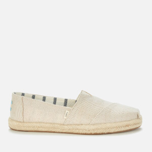 TOMS Women's Pearlised Metallic Alpargata Espadrilles - Natural