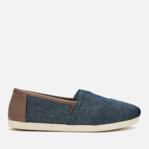 TOMS Men's Dark Denim with Trim Alpargata Espadrilles - Blue