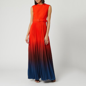 Solace London Women's Willow Maxi Dress - Blood Orange/Ombre Teal