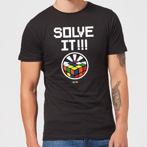 Solve It!!! Cube Glow Men's T-Shirt - Black
