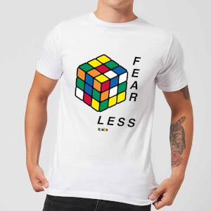 Fear Less Rubik's Cube Men's T-Shirt - White