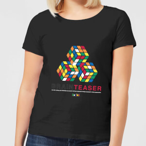 Brain Teaser Trio Rubik's Cube Women's T-Shirt - Black