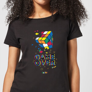 Shattered Rubik's Cube Game Over Women's T-Shirt - Black