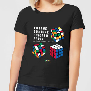 Change Combine Discard Apply Women's T-Shirt - Black