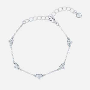 Ted Baker Women's Neleaha: Nano Heart Charm Bracelet - Silver/Crystal