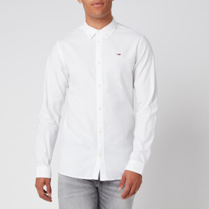 Tommy Jeans Men's Stretch Oxford Shirt - Classic White
