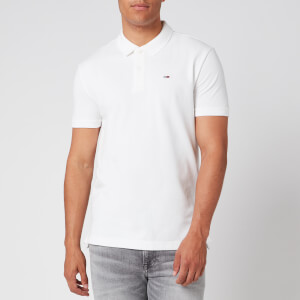 Tommy Jeans Men's Classics Solid Stretch Polo Shirt - Classic White