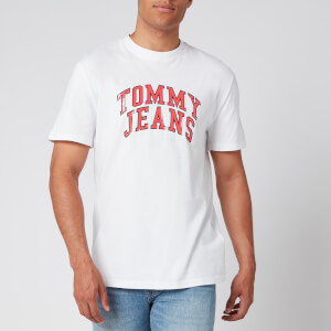 Tommy Jeans Men's Novel Varsity Logo T-Shirt - White