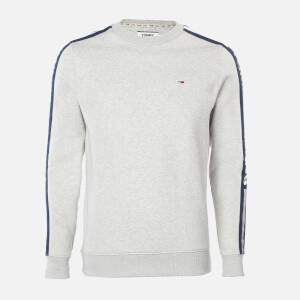 Tommy Jeans Men's Branded Tape Sweatshirt - Light Grey Heather