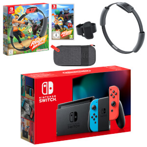 Nintendo Switch (Neon Blue/Neon Red) Ring Fit Adventure Pack