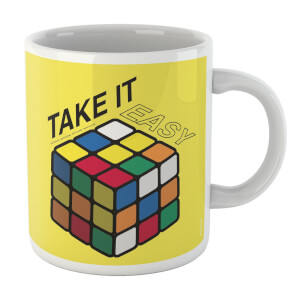 Take It Easy Rubik's Cube Yellow Mug