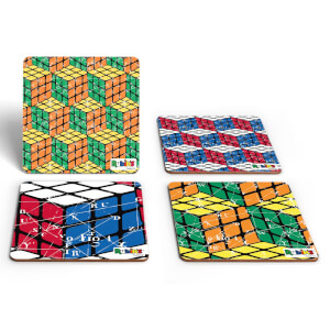 Rubik Scientific Equations Pattern Coaster Set