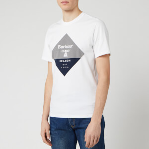 Barbour Beacon Men's Diamond T-Shirt - White