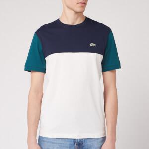Lacoste Men's Colour Block T-Shirt - Navy Green/Off White