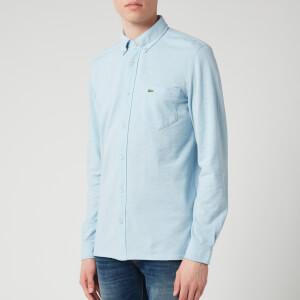 Lacoste Men's Pique Shirt - Light Blue Marl