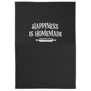 Happiness Is Homemade Cotton Black Tea Towel