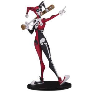 DC Collectibles DC Artist Alley Harley Quinn PVC Collector Statue by Nooligan - Day of the Dead Exclusive Variant