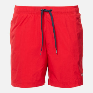 Tommy Hilfiger Men's Small Logo Swim Shorts - Red Glare