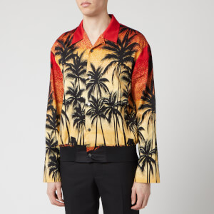Wooyoungmi Men's Palm Print Shirt - Red