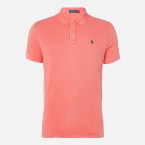 Polo Ralph Lauren Men's Towelling Polo Shirt - Racing Red