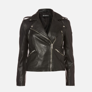 Superdry Women's Leather Essentials Biker Jaket - Black