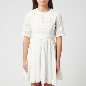 Superdry Women's Ellison Textured Lace Dress - Oyster