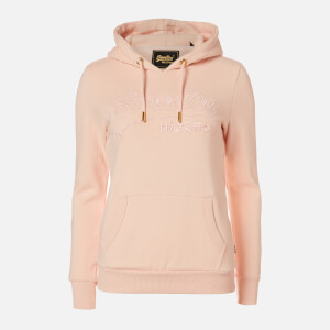 Superdry Women's Vl Emb Outline Entry Hoodie - Peach Whip