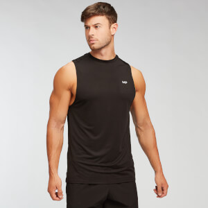 Camiseta sin mangas Essentials Training para hombre de MP - Negro