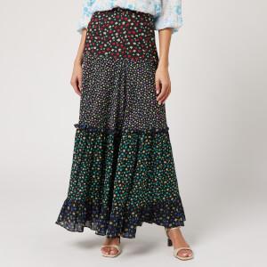 RIXO Women's Dakota Skirt - Mixed Ditsy Floral