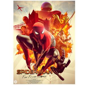 Litografía Marvel Spider-Man: Lejos de casa de Carlos Dattoli