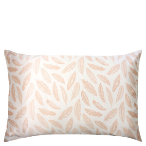 Slip Silk Pillowcase - Queen - Feather Print