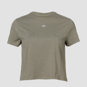 T-shirt Crop Essential MP da donna - Grigio