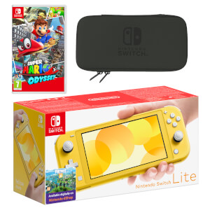 Nintendo Switch Lite (Yellow) Super Mario Odyssey Pack