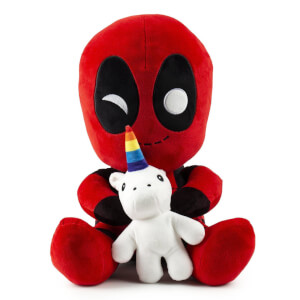 Kidrobot Marvel Deadpool with Unicorn HugMe 16 Inch Vibrating Plush