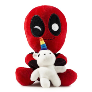 Kidrobot Marvel Deadpool with Unicorn Phunny Plush