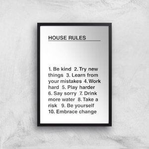 House Rules Giclée Art Print