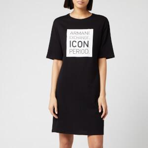 Armani Exchange Women's T-Shirt Dress - Black